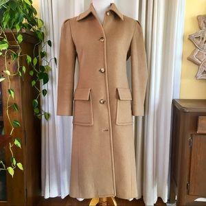 Final ⬇️ Celine Camel Hair Trench Coat Size 40 FR